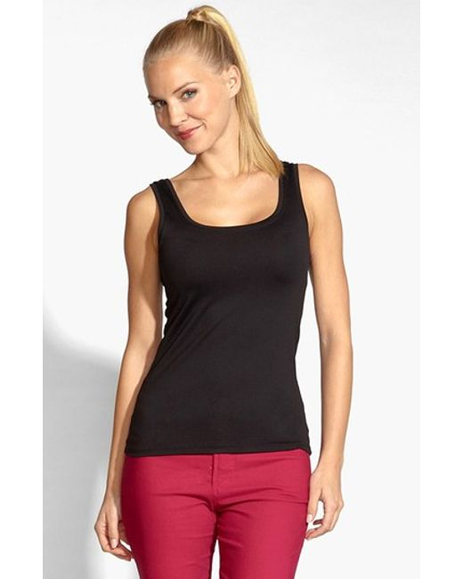 Karen Kane | Black Supersoft Tank | Lyst