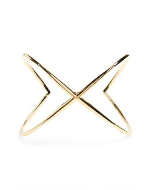 Elizabeth and James   Metallic 'windrose' Wide Crossover Cuff   Lyst