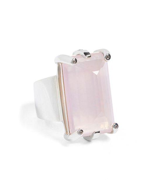 Anna Sheffield | Metallic 'eshel' Rose Quartz & Champagne Diamond Ring | Lyst