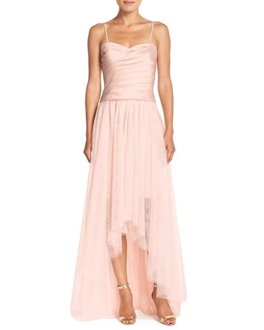 Monique Lhuillier Bridesmaids | Pink High/low Tulle Overskirt | Lyst