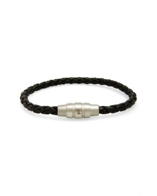 Porsche Design | Black 'grooves' Bracelet for Men | Lyst