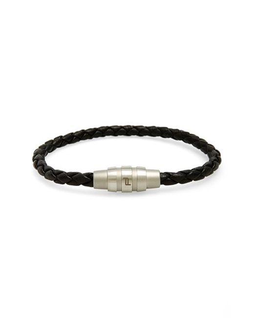 Porsche Design | Black 'grooves' Bracelet for Men | Lyst
