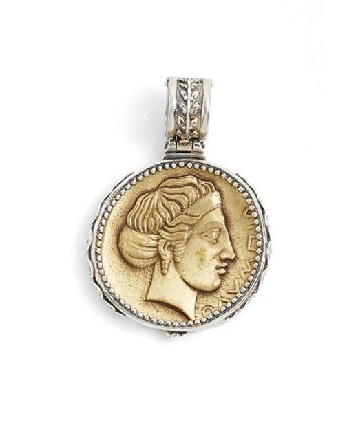 Konstantino | Metallic 'kerma' Coin Pendant | Lyst