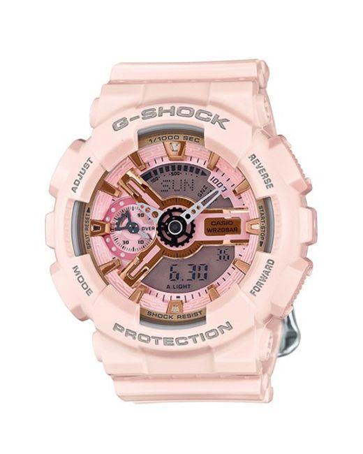 G-Shock | Pink G-shock 'ana-digi' Resin Watch | Lyst