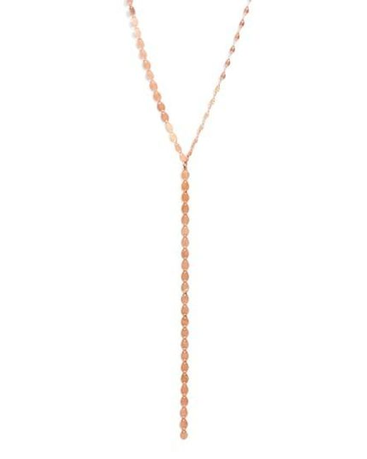Lana Jewelry   Pink 'nude' Y-necklace   Lyst