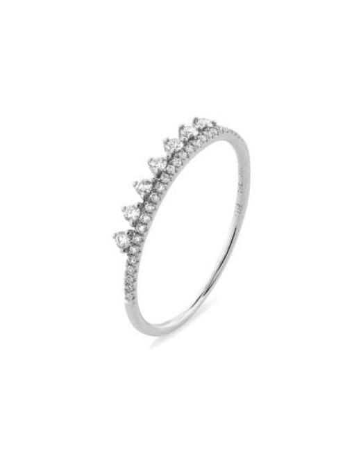 Bony Levy | Metallic 'princess Crown' Stackable Diamond Ring (nordstrom Exclusive) | Lyst