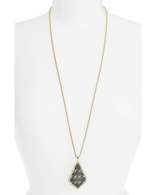 Kendra Scott | Metallic 'aiden' Pendant Necklace | Lyst