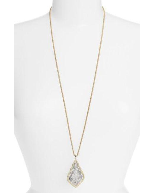 Kendra Scott | Metallic 'aiden' Pendant Necklace | Lyst