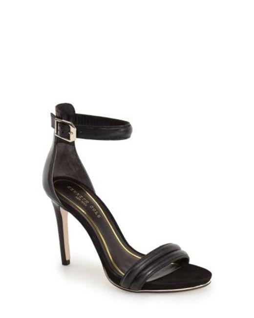 Kenneth Cole | Black 'brooke' Ankle Strap Sandal | Lyst