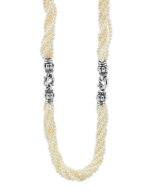 Lagos | Metallic Luna Pearl Convertible Bracelet & Necklace | Lyst