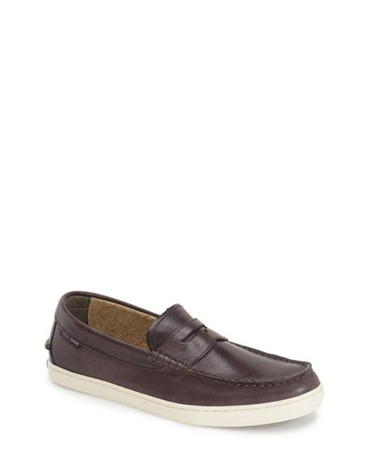 Cole Haan | Gray 'pinch' Penny Loafer for Men | Lyst