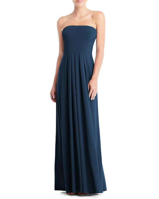 Dessy Collection Blue Multi-way Loop A-line Gown