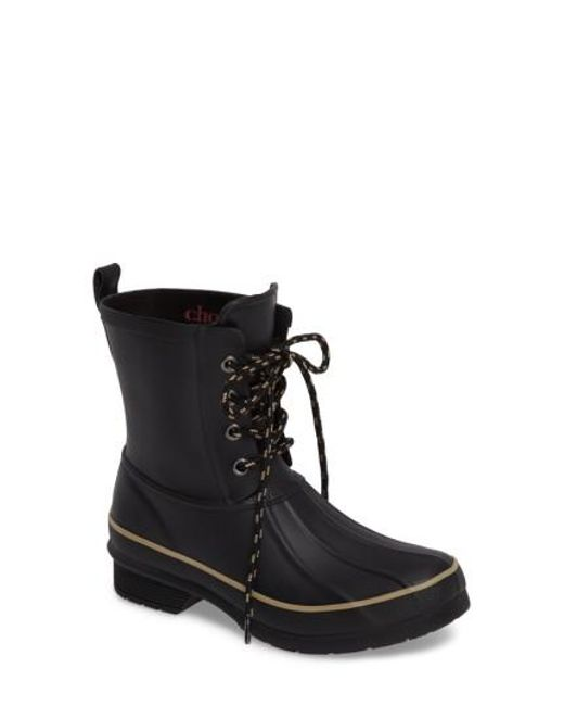 Chooka | Black Classic Lace-up Duck Boot | Lyst