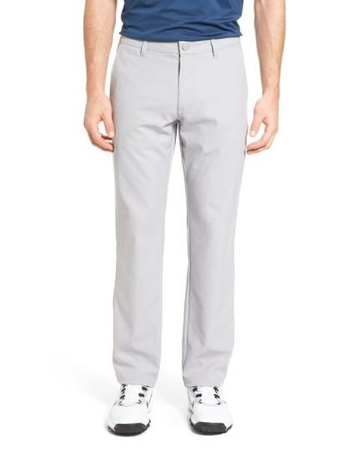 Bonobos highland slim fit golf pants in gray for men lyst for Slim fit golf shirts