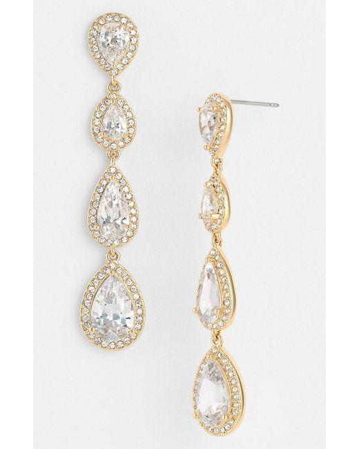 Nadri - Metallic Linear Earrings - Lyst