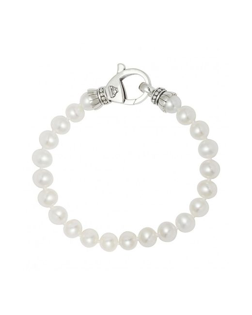 Lagos - Multicolor 'luna' 7.5mm Pearl Bracelet - Lyst