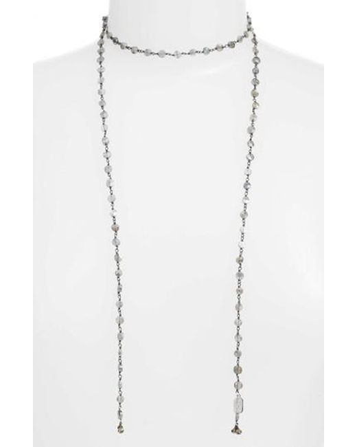 Ela Rae - Metallic Diana Lariat Necklace - Lyst