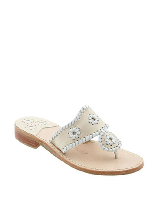 Jack Rogers | White Whipstitched Flip Flop | Lyst