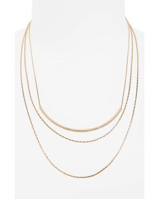 Panacea - Metallic Layered Chain Necklace - Lyst