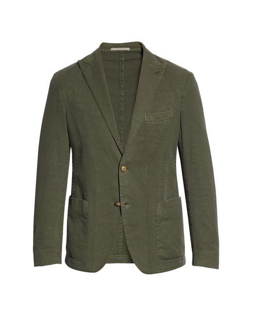Eleventy Green Slim Fit Woven Sport Coat for men