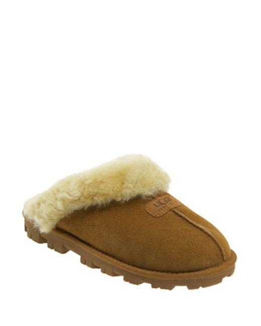 Ugg | Brown Ugg Genuine Shearling Slipper | Lyst