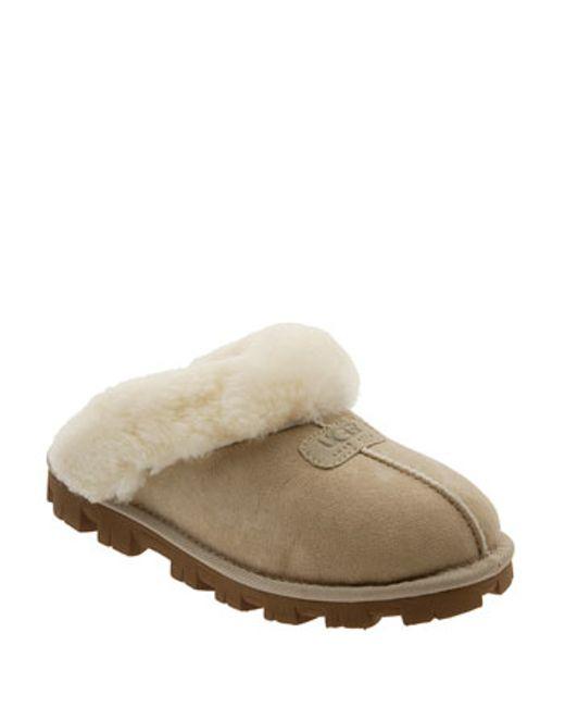 UGG | Natural Ugg Genuine Shearling Slipper | Lyst