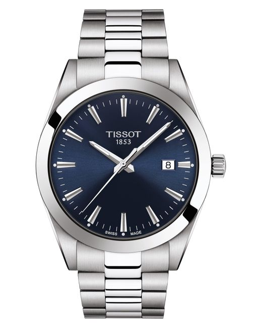 Tissot Blue T-classic Gentleman Bracelet Watch