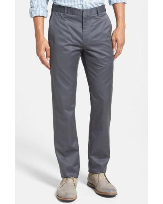 Bonobos - Gray 'weekday Warriors' Non-iron Slim Fit Cotton Chinos for Men - Lyst