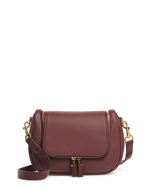 Anya Hindmarch - Purple Small Vere Leather Crossbody Satchel - Lyst