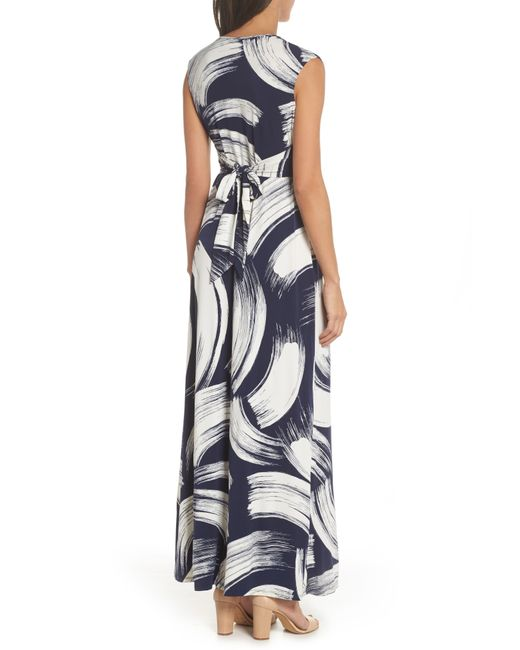 240a8ea615e Eliza J Front Knot Jersey Maxi Dress in Blue - Save 61% - Lyst