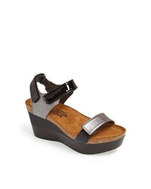 Naot | Metallic 'miracle' Sandal | Lyst