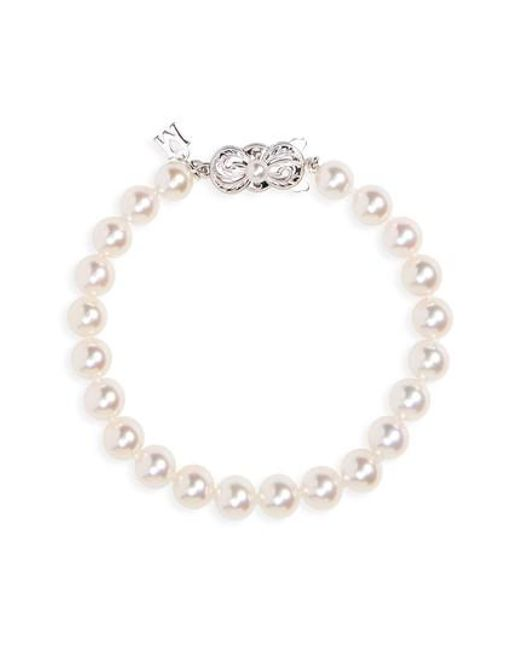 Mikimoto | White Every Essentials Cultured Pearl Bracelet | Lyst