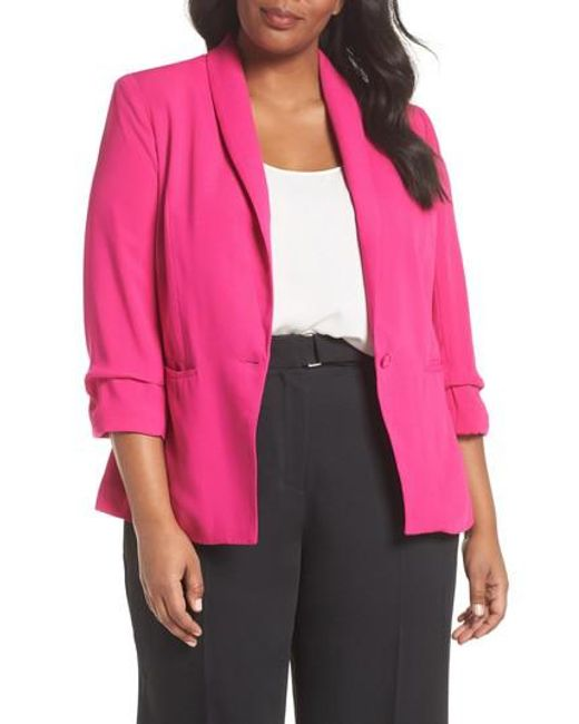 City Chic - Pink Dapper Blazer - Lyst