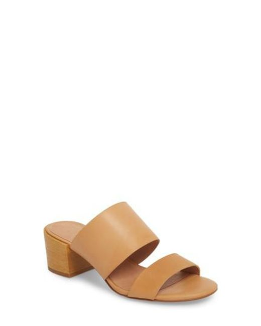 Women's Natural Kiera Block Heel Slide by Madewell