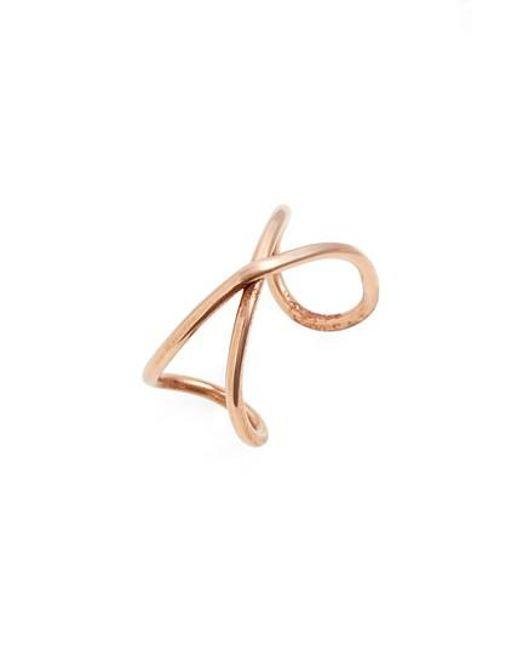 Nashelle   Metallic Infinity Ring   Lyst