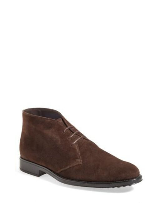 Tod's | Brown 'polacco' Chukka Boot for Men | Lyst