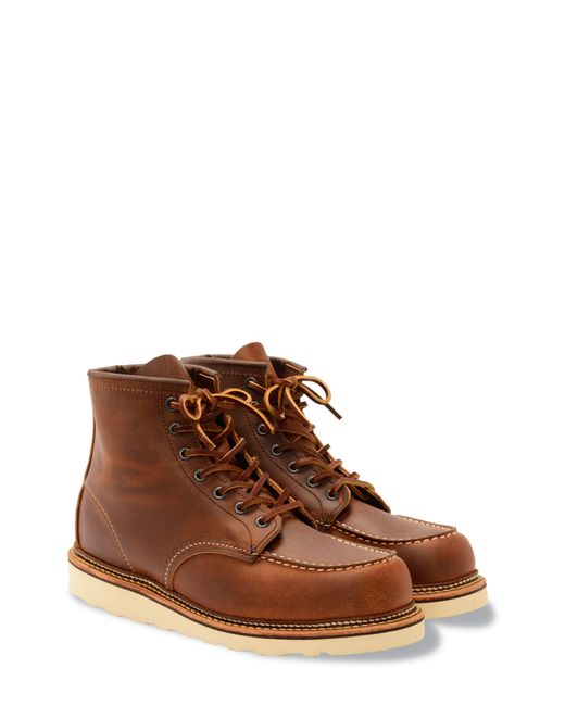 Red Wing Brown Moc Toe Boot for men