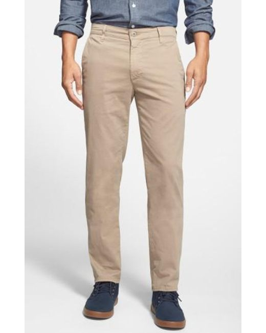 AG Jeans - Natural 'the Lux' Tailored Straight Leg Chinos for Men - Lyst