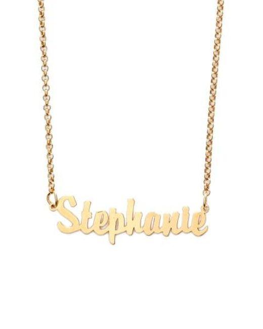 Argento Vivo   Metallic Personalized Script Name Necklace   Lyst