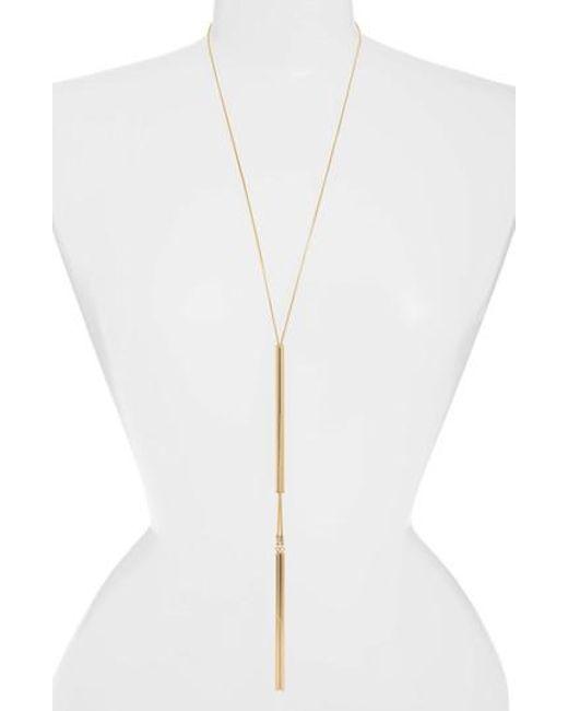 Jenny Bird - Metallic Forme Lariat Necklace - Lyst