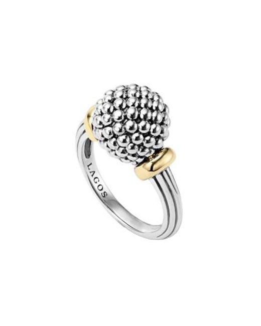 Lagos | Metallic Caviar Forever Medium Dome Ring | Lyst