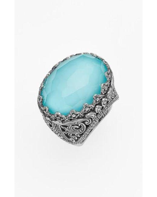 Konstantino | Blue 'aegean' Oval Stone Ring | Lyst