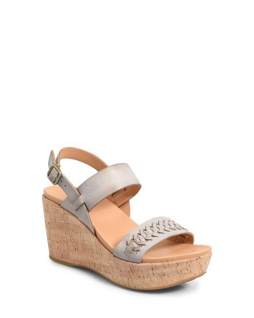Kork-Ease Gray Austin Braid Wedge Sandal