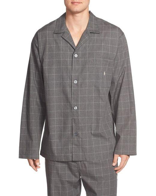 Polo Ralph Lauren - Gray Woven Pajama Top for Men - Lyst