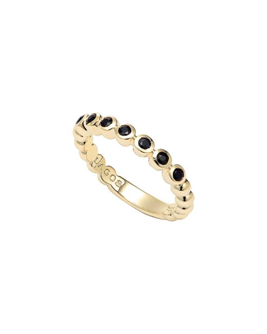 Lagos Metallic Covet Stone Caviar Stack Ring