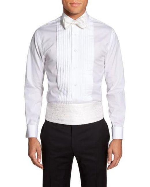 Robert Talbott | White 'protocol' Paisley Silk Cummerbund & Bow Tie Set for Men | Lyst