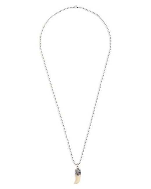 Link Up | Metallic Claw Pendant Necklace | Lyst