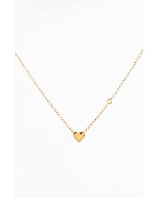 Shy By Sydney Evan | Metallic Heart Necklace | Lyst