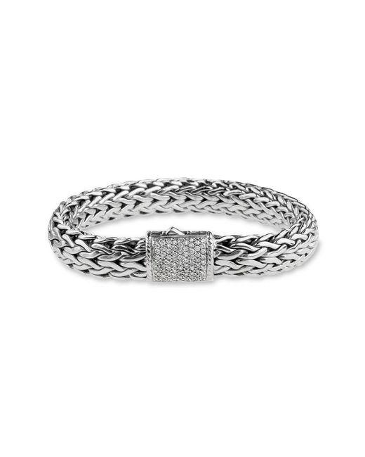 John Hardy - Metallic 'Kali' Silver Woven Bracelet - Lyst