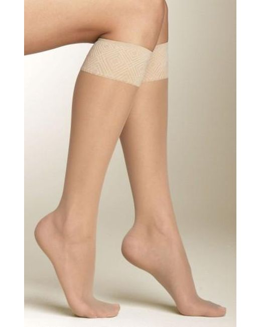 Spanx | Brown Spanx Sheer Knee Highs | Lyst